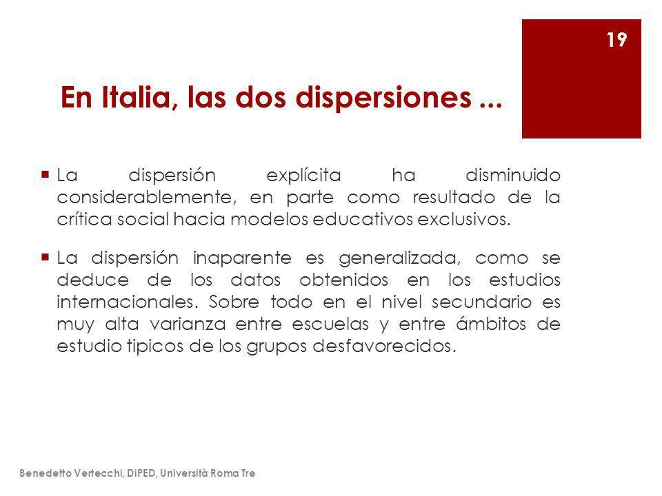 En Italia, las dos dispersiones...