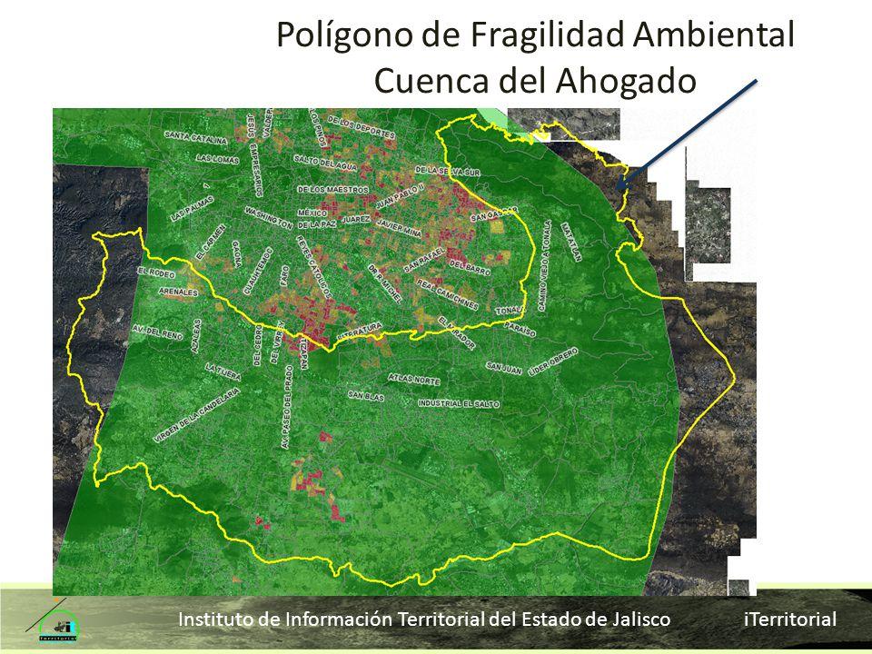 Instituto de Información Territorial del Estado de Jalisco iTerritorial Polígono de Fragilidad Ambiental Cuenca del Ahogado
