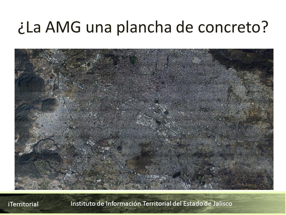 Instituto de Información Territorial del Estado de Jalisco iTerritorial ¿La AMG una plancha de concreto?