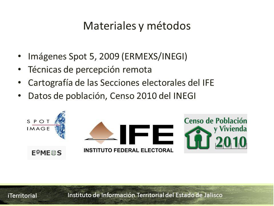 Instituto de Información Territorial del Estado de Jalisco iTerritorial Imágenes Spot 5, 2009 (ERMEXS/INEGI) Técnicas de percepción remota Cartografía