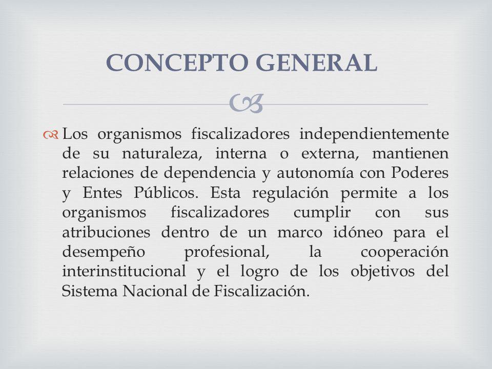 Los organismos fiscalizadores independientemente de su naturaleza, interna o externa, mantienen relaciones de dependencia y autonomía con Poderes y En