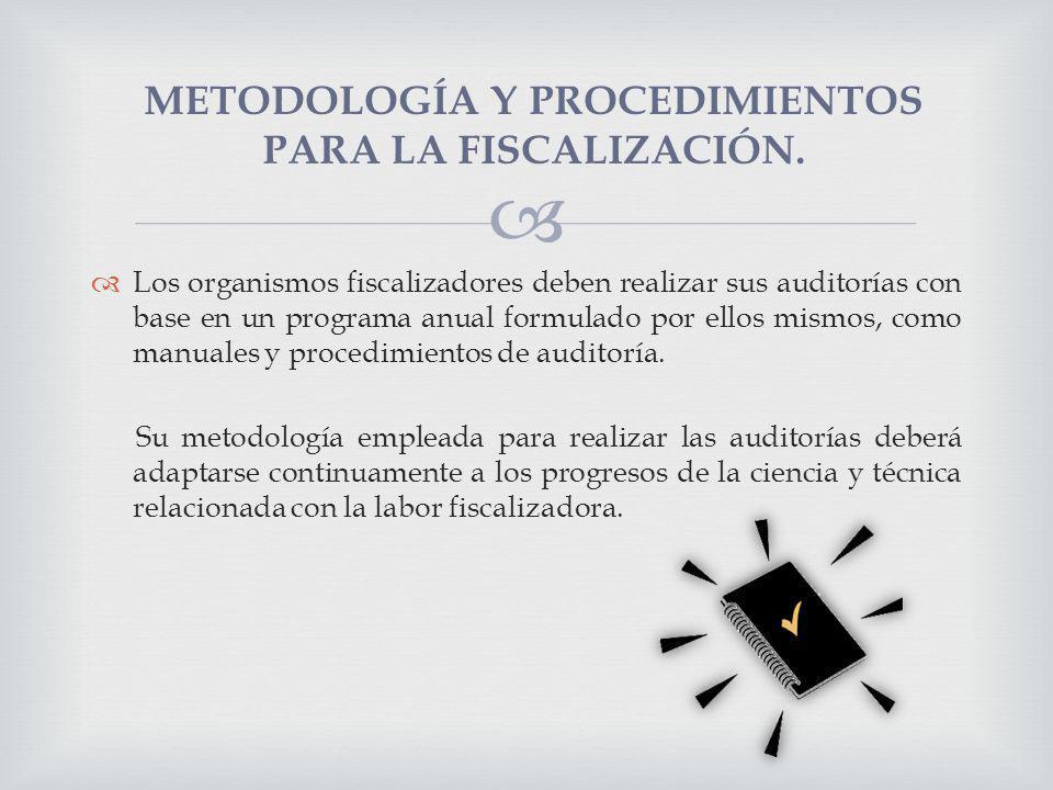 Los organismos fiscalizadores deben realizar sus auditorías con base en un programa anual formulado por ellos mismos, como manuales y procedimientos d
