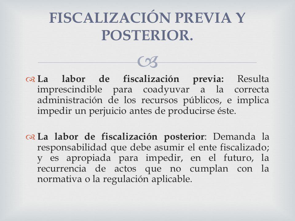La labor de fiscalización previa: Resulta imprescindible para coadyuvar a la correcta administración de los recursos públicos, e implica impedir un pe