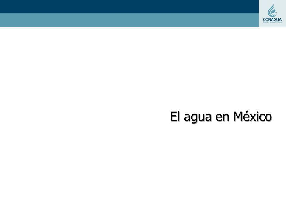 Disponibilidad de agua en México En México destacan dos grandes zonas por su disponibilidad de agua: el sureste y una zona mayor que comprende norte, centro y noroeste del país.