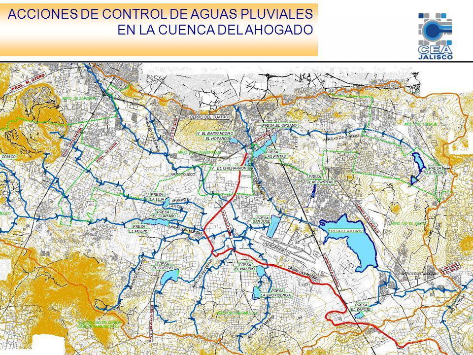 HIDROLOGÍA: La cuenca drena una superficie aproximada de 9641 km2, sus principales arroyos son Arroyo Seco, El Tecolote, La Culebra, El Guayabo, El Salto, La Colorada, El Zarco y Garabatos, en su mayoría intermitentes y confluyen en la parte media de la cuenca descargando al canal las pintas y posteriormente a la presa del mismo nombre para finalmente descargar a la presa del El Ahogado.