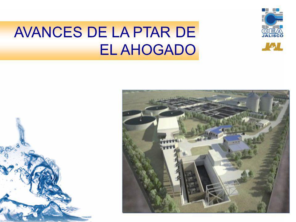 AVANCES DE LA PTAR EL AHOGADO A la fecha la planta de tratamiento presenta un avance del 86.05%, equivalente a $628.24 millones.