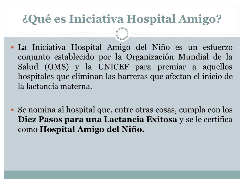¿Qué es Iniciativa Hospital Amigo? La Iniciativa Hospital Amigo del Niño es un esfuerzo conjunto establecido por la Organización Mundial de la Salud (