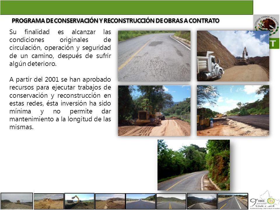 Su finalidad es alcanzar las condiciones originales de circulación, operación y seguridad de un camino, después de sufrir algún deterioro. A partir de