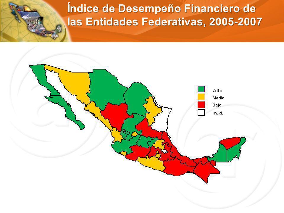 Índice de Desempeño Financiero de las Entidades Federativas, 2005-2007