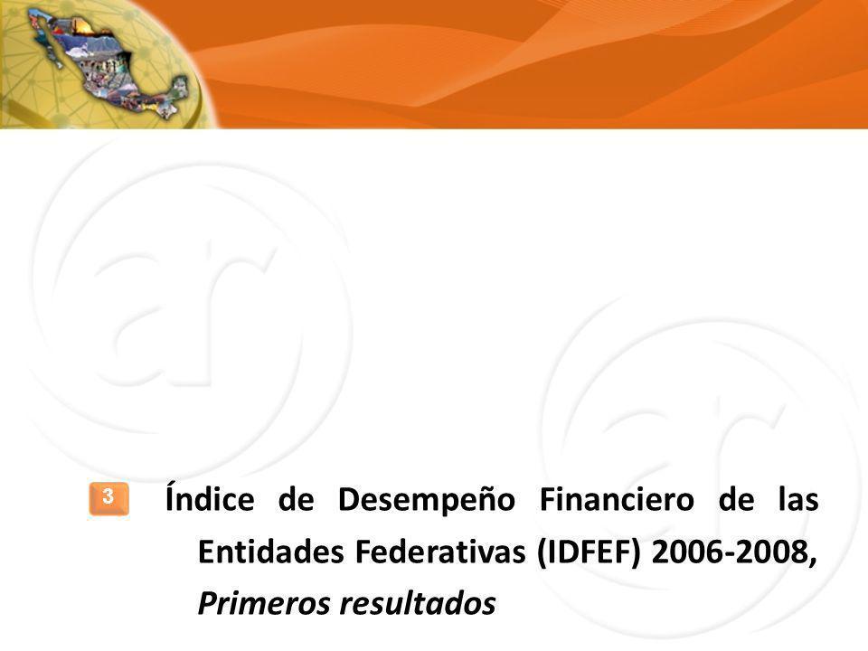 Índice de Desempeño Financiero de las Entidades Federativas (IDFEF) 2006-2008, Primeros resultados 3