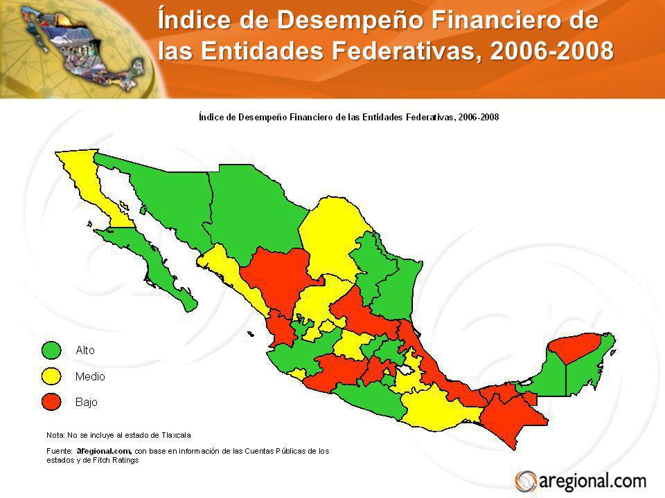 Índice de Desempeño Financiero de las Entidades Federativas, 2006-2008