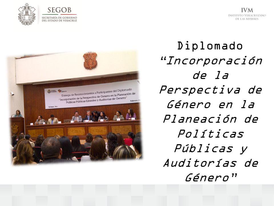 Diplomado Incorporación de la Perspectiva de Género en la Planeación de Políticas Públicas y Auditorías de Género