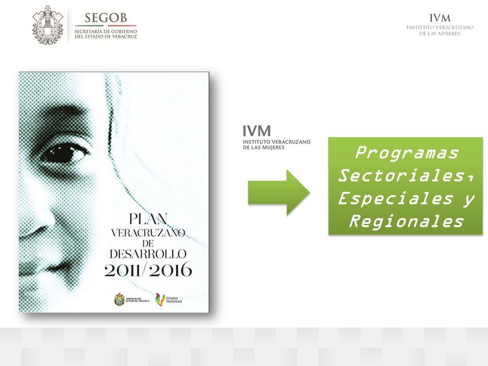 Programas Sectoriales, Especiales y Regionales