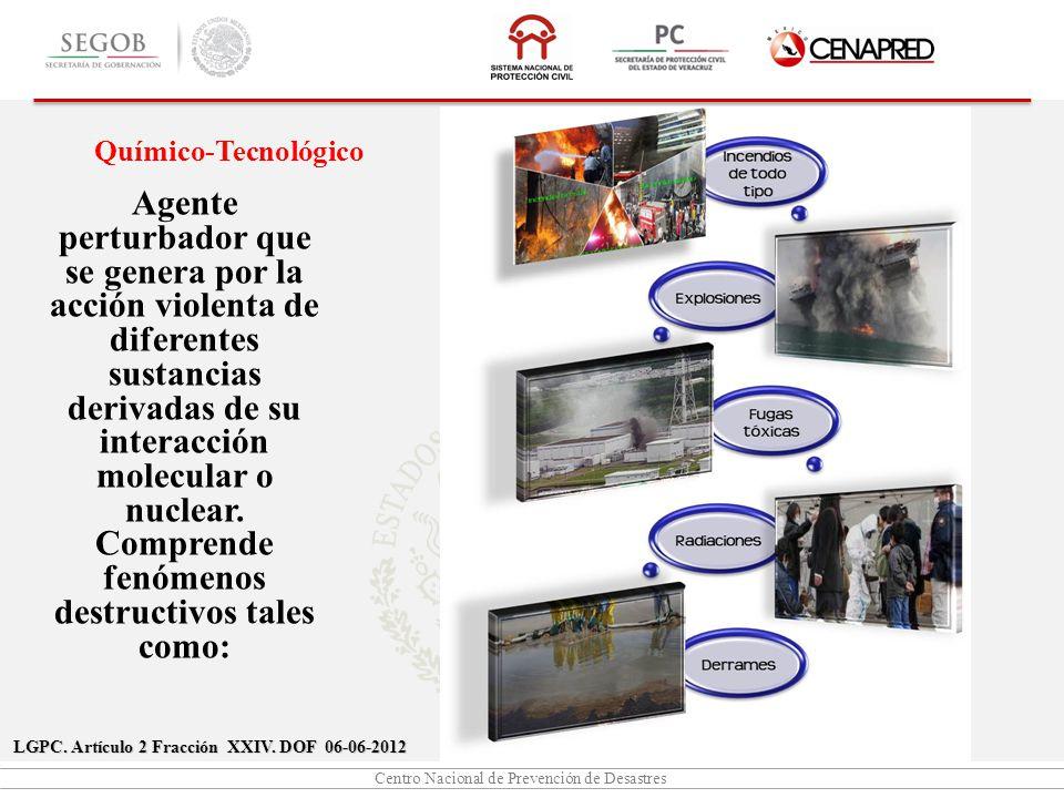 Centro Nacional de Prevención de Desastres LGPC.Artículo 2 Fracción XXIV.
