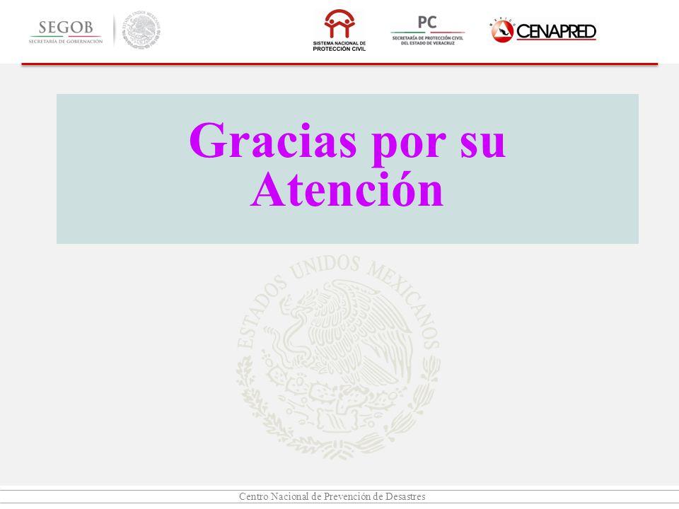 Centro Nacional de Prevención de Desastres Gracias por su Atención