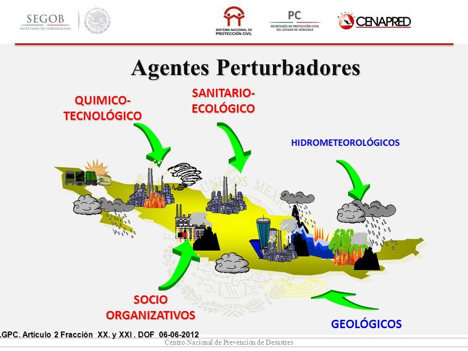 Centro Nacional de Prevención de Desastres Agentes Perturbadores LGPC.