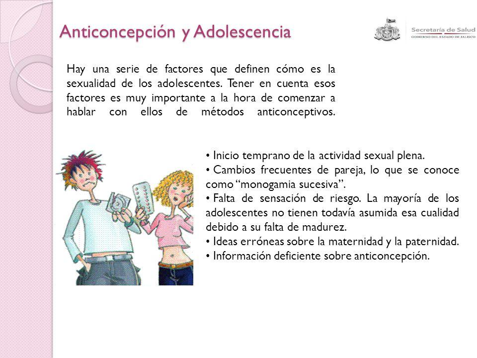 Anticoncepción y Adolescencia Hay una serie de factores que definen cómo es la sexualidad de los adolescentes. Tener en cuenta esos factores es muy im