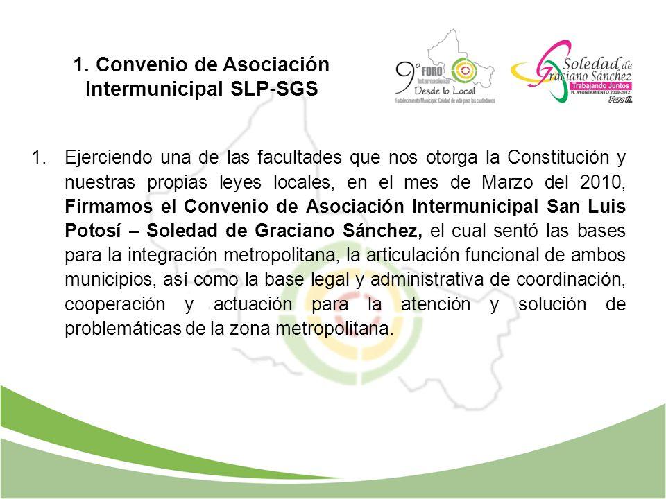 1.Ejerciendo una de las facultades que nos otorga la Constitución y nuestras propias leyes locales, en el mes de Marzo del 2010, Firmamos el Convenio