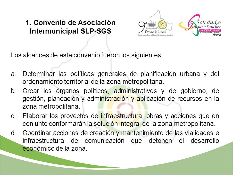Los alcances de este convenio fueron los siguientes: a.Determinar las políticas generales de planificación urbana y del ordenamiento territorial de la