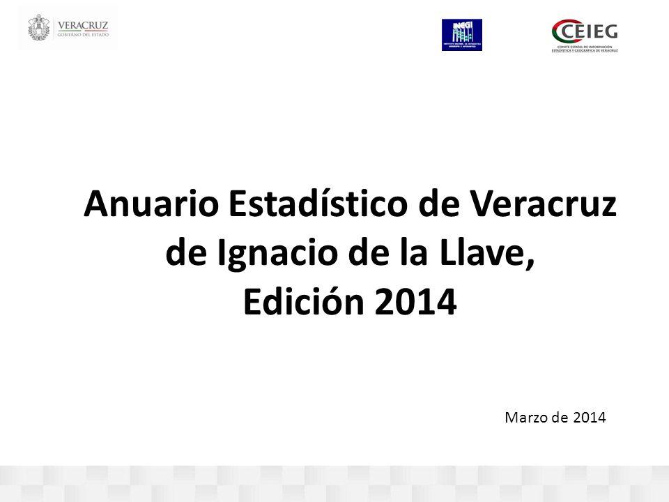 Marzo de 2014 Anuario Estadístico de Veracruz de Ignacio de la Llave, Edición 2014