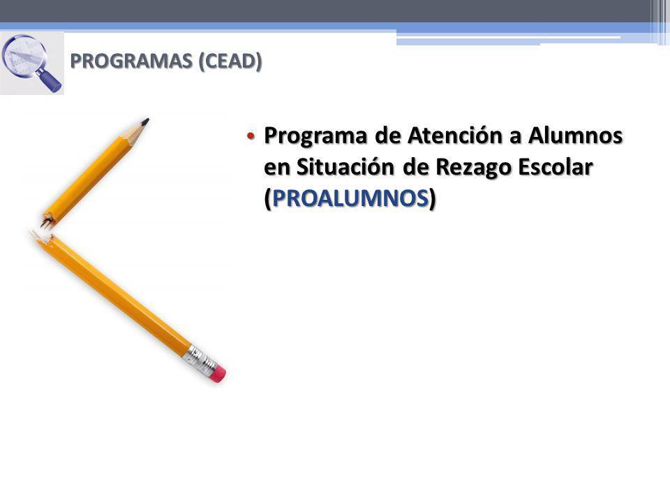 Programa de Atención a Alumnos en Situación de Rezago Escolar (PROALUMNOS) Programa de Atención a Alumnos en Situación de Rezago Escolar (PROALUMNOS)