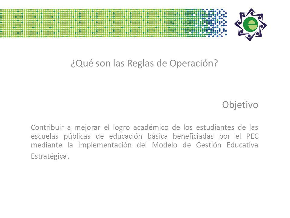 ¿Qué son las Reglas de Operación.
