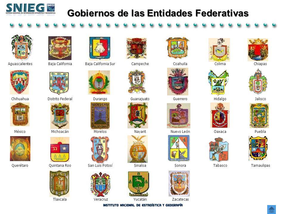 Tlaxcala VeracruzYucatánZacatecas Gobiernos de las Entidades Federativas AguascalientesBaja CaliforniaBaja California SurCampecheCoahuilaColimaChiapas