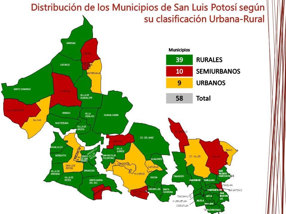 VILLA DE REYES SANTA MARIA DEL RIO AHUALULCO VILLA DE ARRIAGA ZARAGOZA MEXQUITIC ARMADILLO DE LOS INFANTE CERRO DE SAN PEDRO VENADO MOCTEZUMA VILLA DE ARISTA VILLA HIDALGO CEDRAL SANTO DOMINGO CATORCE VANEGAS GUADALCAZAR VILLA DE GUADALUPE LAGUNILLAS ALAQUINES SANTA CATARINA RAYON VILLA JUAREZ CD.