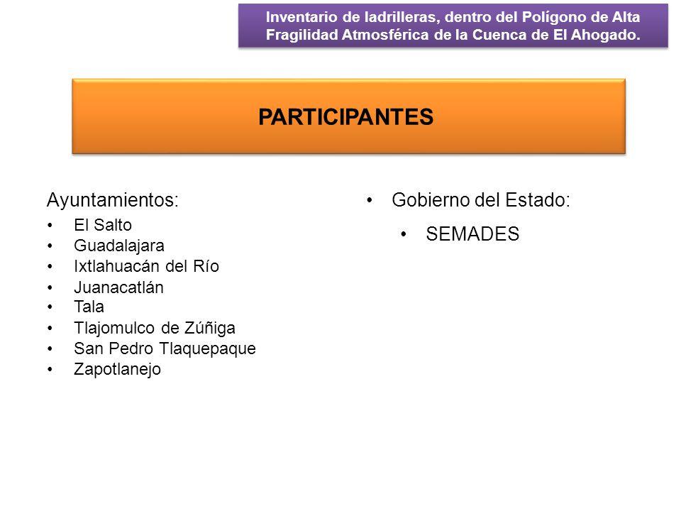 El censo de las ladrilleras se desarrollo durante los meses de Marzo, Abril y Junio de 2012.