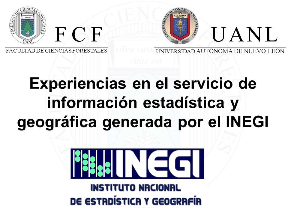 Biblioteca Ciencias Forestales La Biblioteca de Ciencias Forestales cuenta con: - Hemeroteca - Sala de Cubículos individuales - Sala de Lectura - Sala de Libros - Sala de Mapoteca-Biblioteca - Sala de Copiado - Sala de Cómputo - Sala de Recepción INSTITUTO NACIONAL DE ESTADÍSTICA Y GEOGRAFÍA EXPERIENCIAS EN EL SERVICIO DE INFORMACIÓN ESTADÍSTICA Y GEOGRÁFICA GENERADA POR EL INEGI