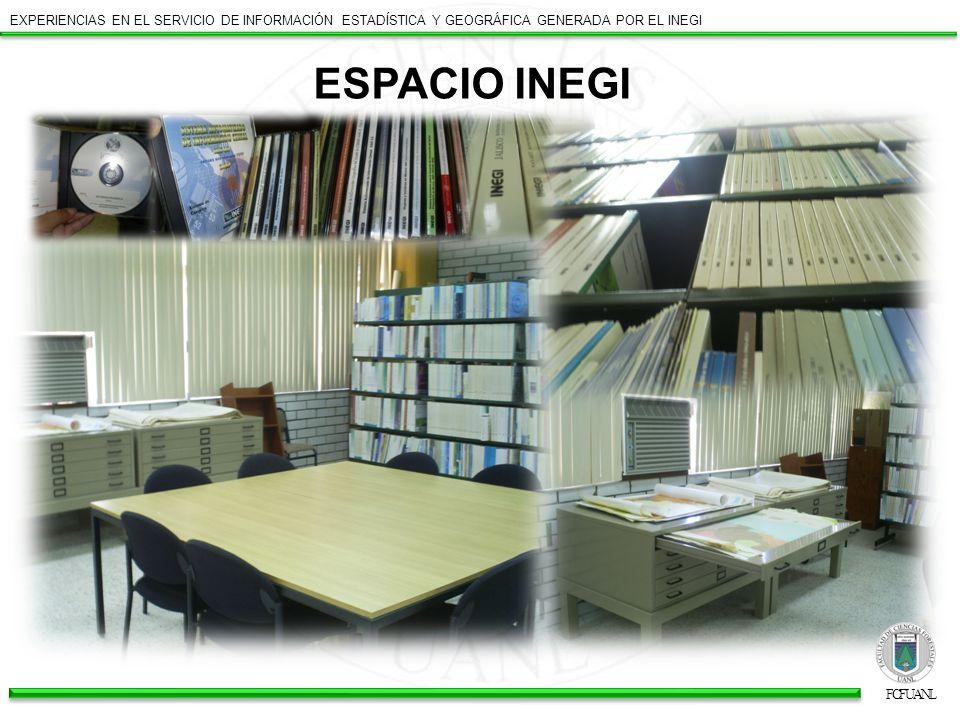 Tan solo en lo que va de este año (2009) se han ofrecido y atendido los siguientes cursos: INSTITUTO NACIONAL DE ESTADÍSTICA Y GEOGRAFÍA EXPERIENCIAS EN EL SERVICIO DE INFORMACIÓN ESTADÍSTICA Y GEOGRÁFICA GENERADA POR EL INEGI Uso de la carta topográfica 1:50 000 18 de Marzo, 2009 Linares, Nuevo León Reunión de Capacitación de la red de consulta externa 2009 22 de abril, 2009 Monterrey, Nuevo León