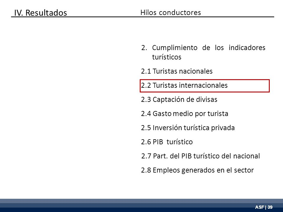 ASF | 39 Hilos conductores IV.