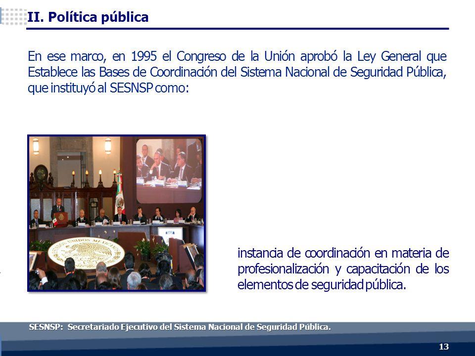 13 SESNSP: Secretariado Ejecutivo del Sistema Nacional de Seguridad Pública.
