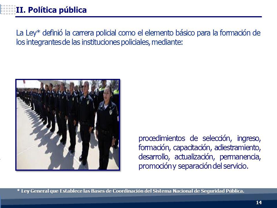 14 * Ley General que Establece las Bases de Coordinación del Sistema Nacional de Seguridad Pública.