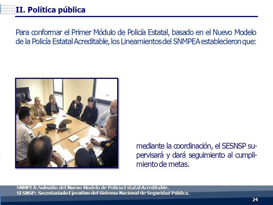 mediante la coordinación, el SESNSP su- pervisará y dará seguimiento al cumpli- miento de metas.