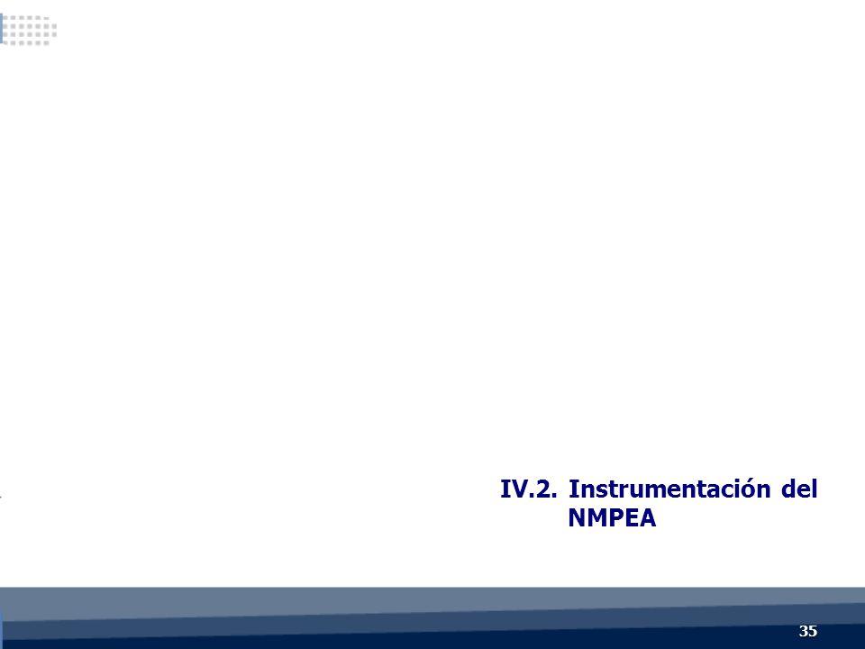 IV.2. Instrumentación del NMPEA 35
