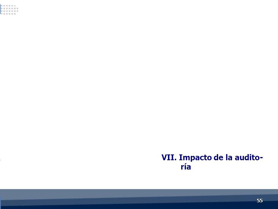 VII. Impacto de la audito- ría 55