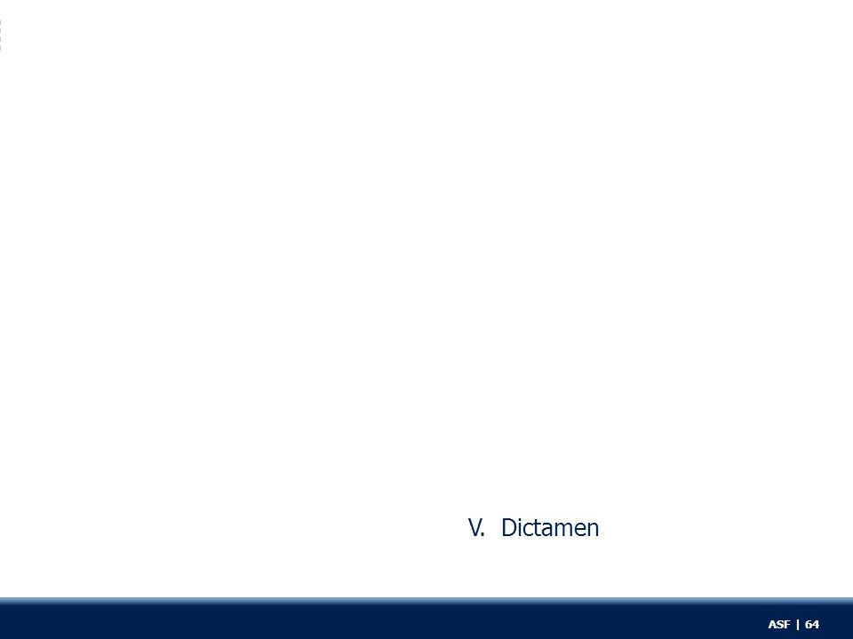 V. Dictamen ASF | 64