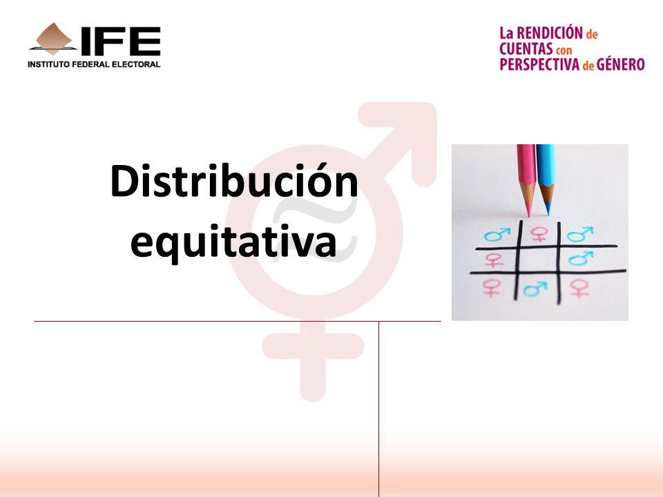 Distribución equitativa