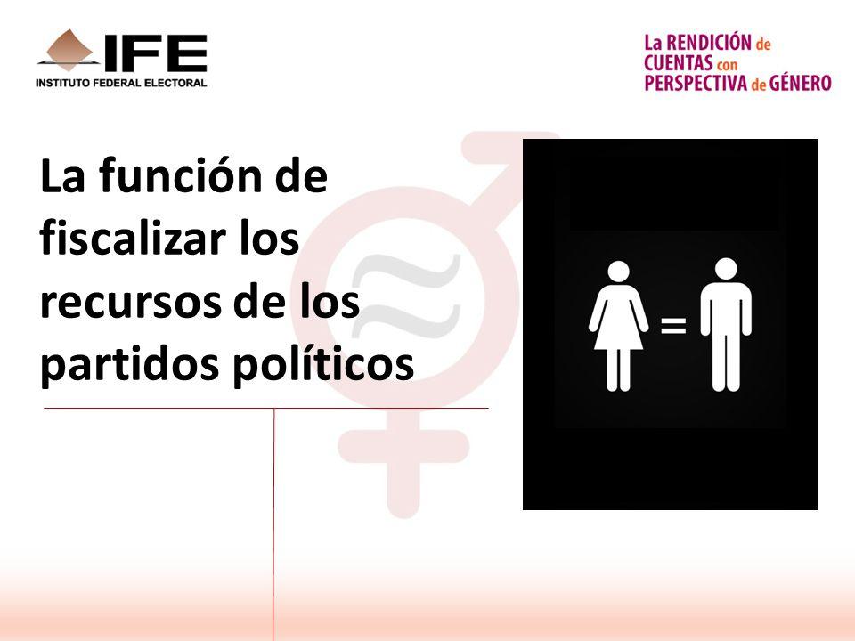 La función de fiscalizar los recursos de los partidos políticos