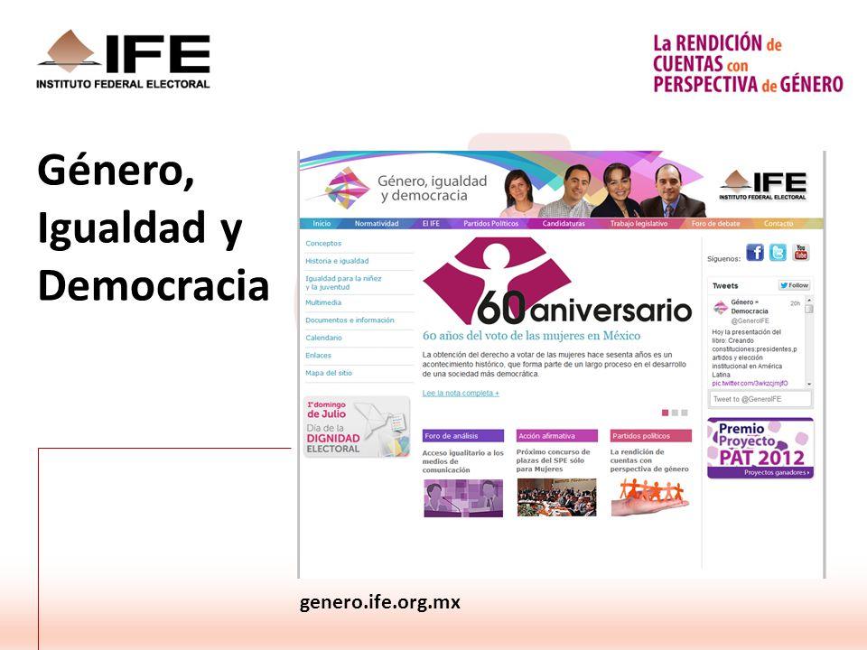 Género, Igualdad y Democracia genero.ife.org.mx