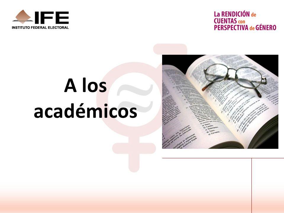 A los académicos