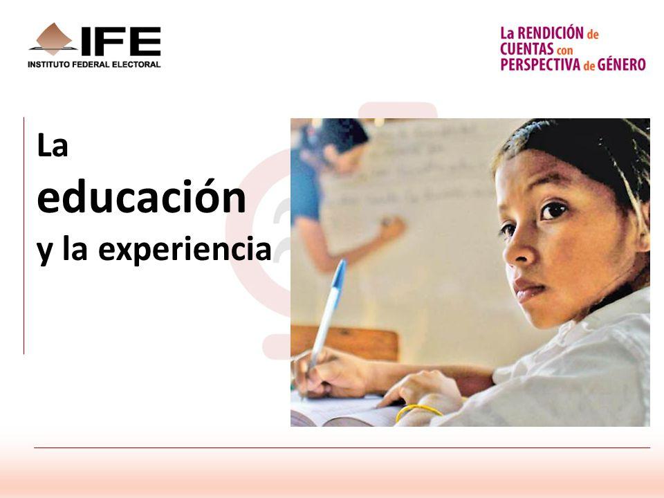 La educación y la experiencia