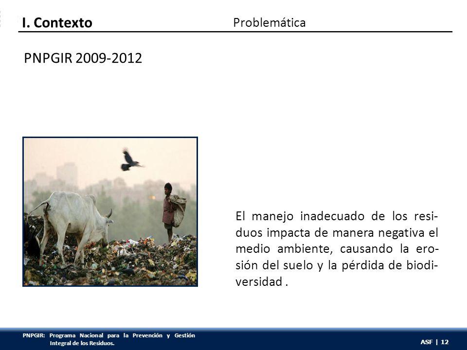 ASF | 12 El manejo inadecuado de los resi- duos impacta de manera negativa el medio ambiente, causando la ero- sión del suelo y la pérdida de biodi- v