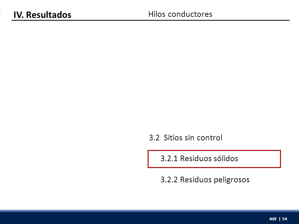 ASF | 54 Hilos conductores IV.
