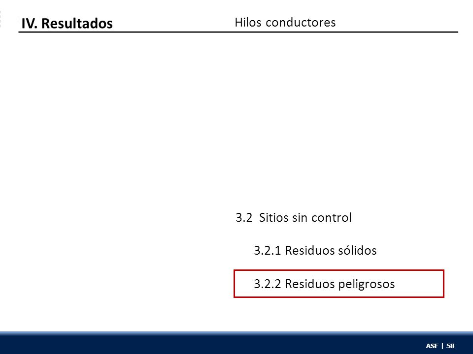 ASF | 58 Hilos conductores IV.