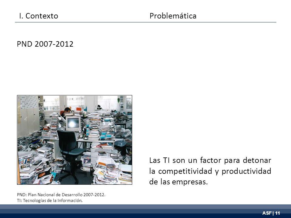 ASF | 11 Las TI son un factor para detonar la competitividad y productividad de las empresas.