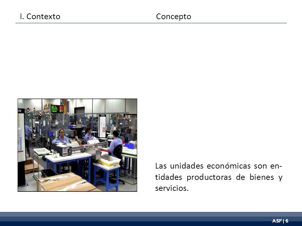 ASF | 6 Las unidades económicas son en- tidades productoras de bienes y servicios.