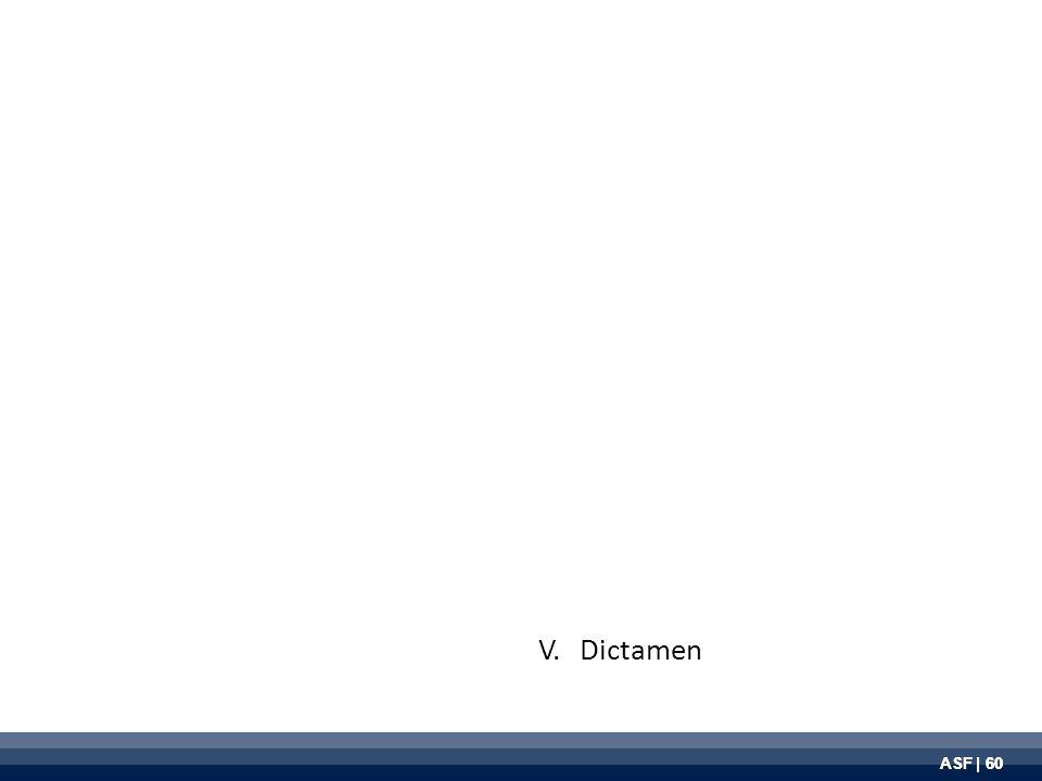 ASF | 60 V. Dictamen