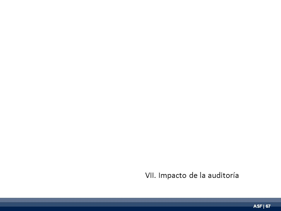 ASF | 67 VII. Impacto de la auditoría